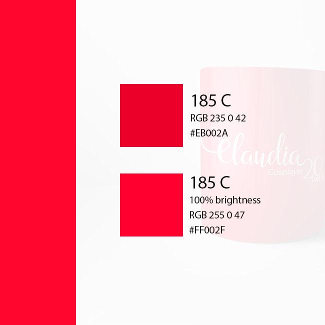 Paleta de vermelho
